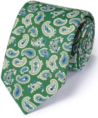 Charles Tyrwhitt Green Silk English Luxury Paisley Tie