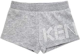 Kenzo Logo Printed Cotton Sweat Shorts