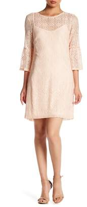 Jessica Simpson Bell Sleeve Lace Dress