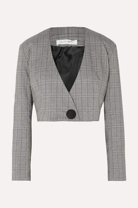 The Line By K - Ibina Prince Of Wales Checked Woven Jacket - Gray