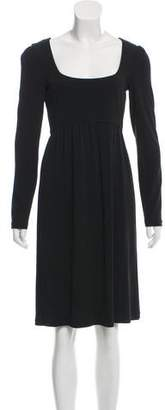 Narciso Rodriguez A-Line Long Sleeve Dress
