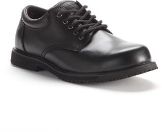 Grabbers Men's Slip-Resistant Oxford Work Shoes