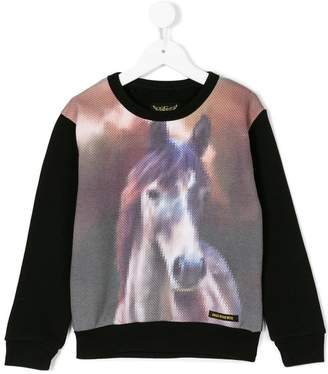 Finger In The Nose horse print sweatshirt