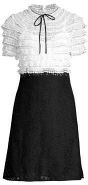 Sandro Helsinki Ruffled Lace Dress