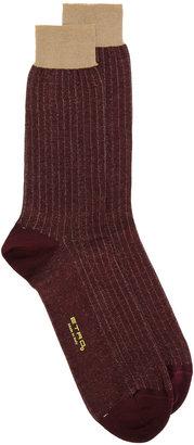 Etro ribbed socks $60 thestylecure.com