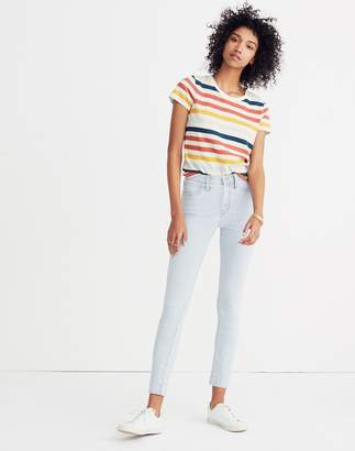 "Madewell 10"" High-Rise Crop Jeans in Piper Stripe"