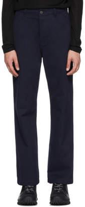 Acne Studios Navy Workwear Trousers