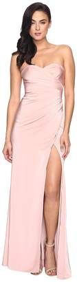 Faviana Faille Satin Strapless w/ Side Draping 7891 Women's Dress