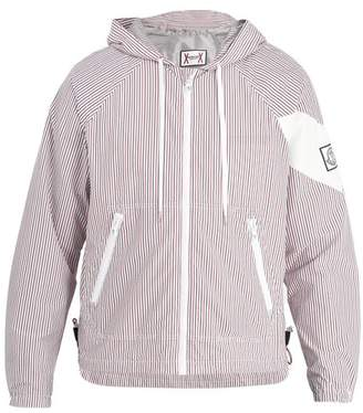 Moncler Gamme Bleu Hooded Seersucker Jacket - Mens - Multi