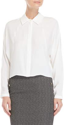 Atos Lombardini White Long Sleeve Blouse