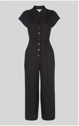 9b25bbf670 Whistles Sana Linen Button Jumpsuit