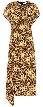 Victoria Beckham Printed jersey midi dress