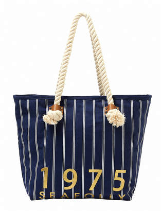 Seafolly Striped Denim Beach Tote Bag