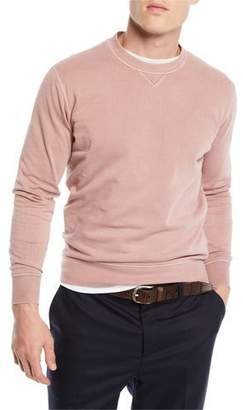 Brunello Cucinelli Men's Raglan Crewneck Sweater