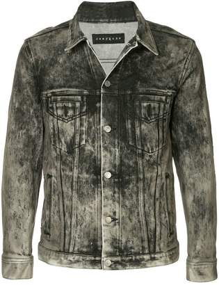 Roarguns acid wash denim jacket