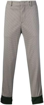 Prada Techno check trousers