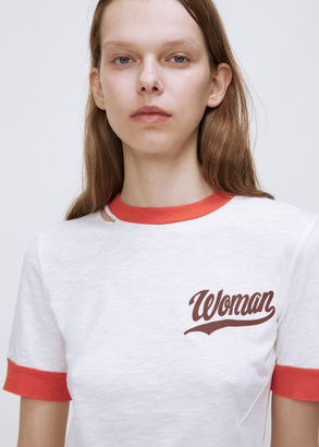 Off-White white / red thanks ripped tee $296 thestylecure.com