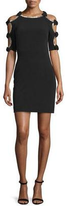 Jenny Packham Bow-Sleeve Sheath Cocktail Dress, Black $2,490 thestylecure.com