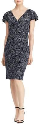 Lauren Ralph Lauren Printed Flutter-Sleeve Dress