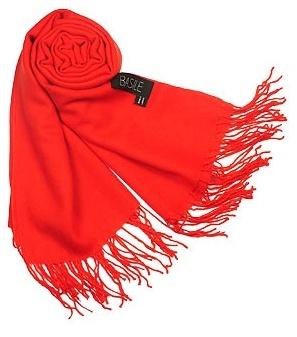 Basile Fringed Solid Wool And Cashmere Pashmina Shawl