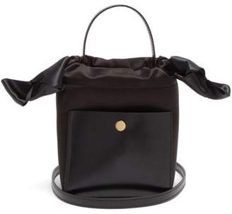 Sophie Hulme Knot Nano Leather And Satin Bag - Womens - Black