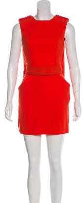 Alexander McQueen Wool Sleeveless Dress
