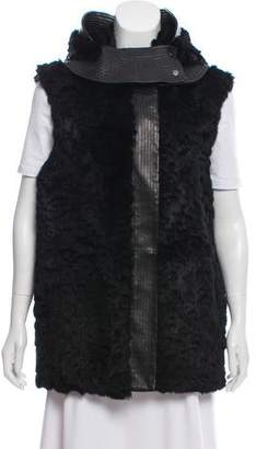 Helmut Lang Fur and Leather Vest