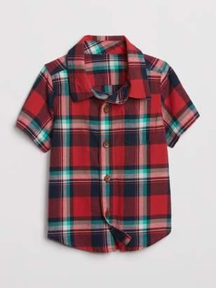 Gap Baby Plaid Short Sleeve Shirt