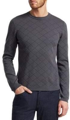 Giorgio Armani Diamond Patter Sweatshirt