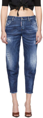 DSQUARED2 Blue Army Fade Hockney Jeans
