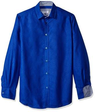 d2b81f70 Azaro Uomo Men's Dress Shirt Casual Button Down Long or 3/4 Sleeve Fitted,
