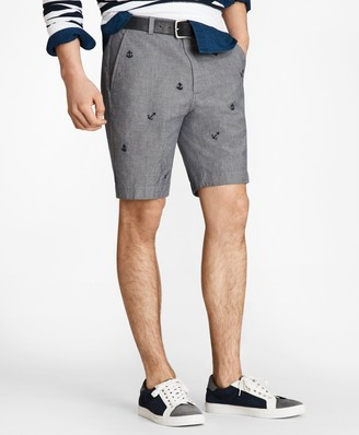 Brooks Brothers Embroidered Anchor Chambray Shorts