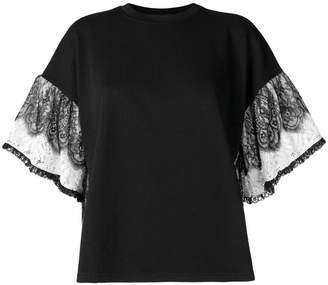 McQ frilly lace sleeve top