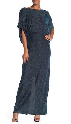 Marina Dolman Sleeve Stripe Gown