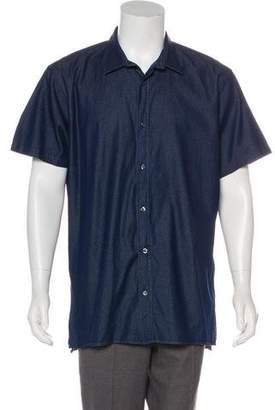 Vince Polka-Dot Print Button-Up Shirt
