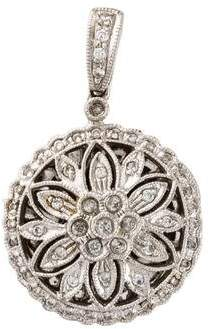14K Diamond Locket Pendant