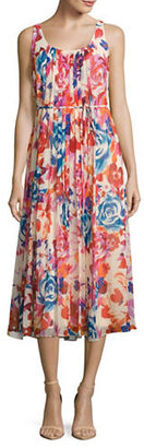 Donna Morgan Sleeveless Floral Maxi Dress $128 thestylecure.com