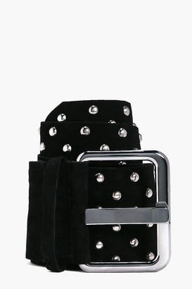 boohoo Lola Studded Waist Belt