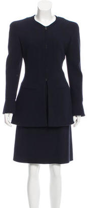 Chanel Wool Skirt Suit $400 thestylecure.com