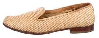Stubbs & Wootton Woven Raffia Loafers
