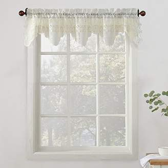 No. 918 Alison Floral Lace Sheer Kitchen Curtain Valance