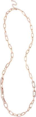 WORTHINGTON Worthington Crystal Rose-Tone Link Necklace