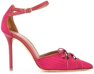 Malone Souliers By Roy Luwolt bow detail ankle strap pumps