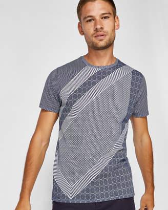 Ted Baker CROPPER Geo print cotton T-shirt