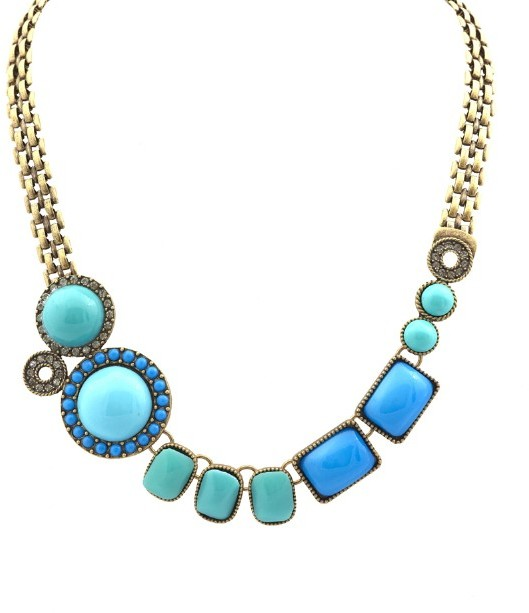 Rachel Leigh Layer Necklace with Stones and Crystals