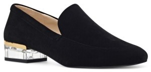 Women's Nine West Umissit Clear Heel Loafer $89.95 thestylecure.com