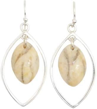 Barse Sterling Silver Feldspar Teardrop Earrings