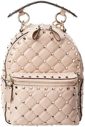 Valentino Mini Rockstud Spike Leather Backpack
