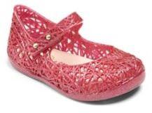 Mini Melissa Infant's Zigzag Glitter Mary Jane Flats $55 thestylecure.com