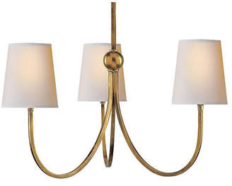Thomas O'Brien For Visual Comfort Reed 3-Light Chandelier - Antiqued Brass